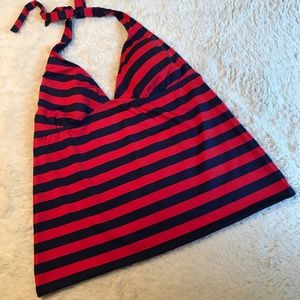 Mossimo Red and Blue Stripe Tankini Top - Sz XL
